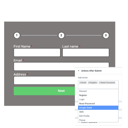 Elementor User Registration form
