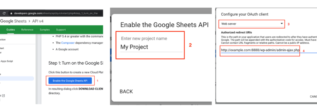 create google sheet client id secret 2