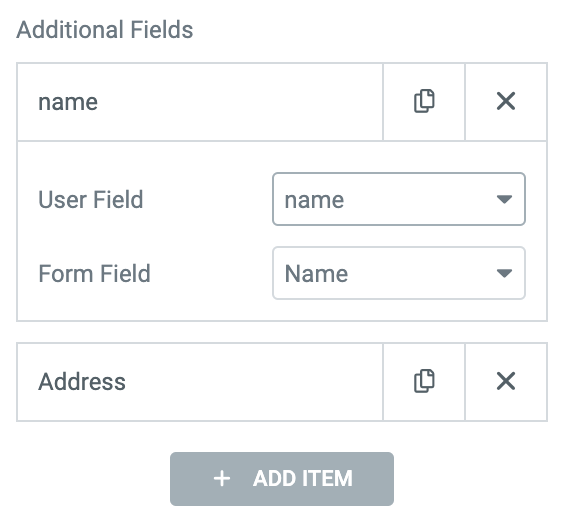 elementor signup form additional fields mapping