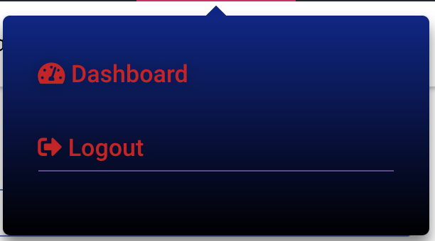 Logout button elementor